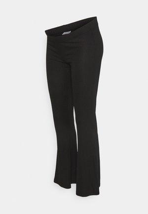 PCMTOPPY FLARED PANT - Trousers - black