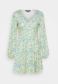 Missguided - DITSY SKATER DRESS - Jersey dress - yellow - 4
