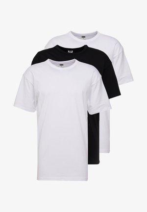 ORGANIC BASIC TEE 3 PACK - T-paita - white/black
