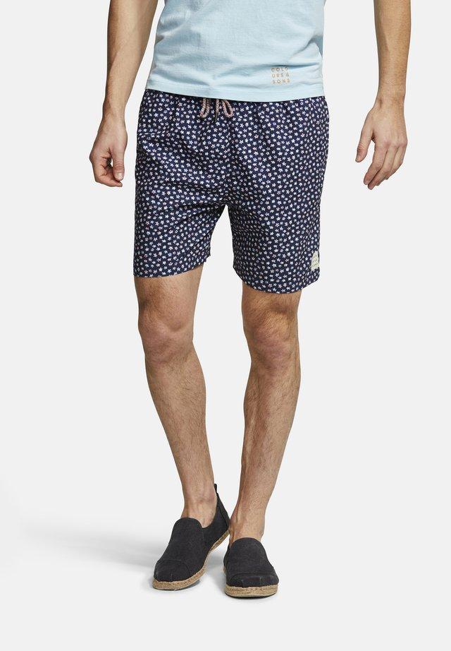 BADESHORTS MINIMAL-PRINT SIMON - Swimming shorts - blue
