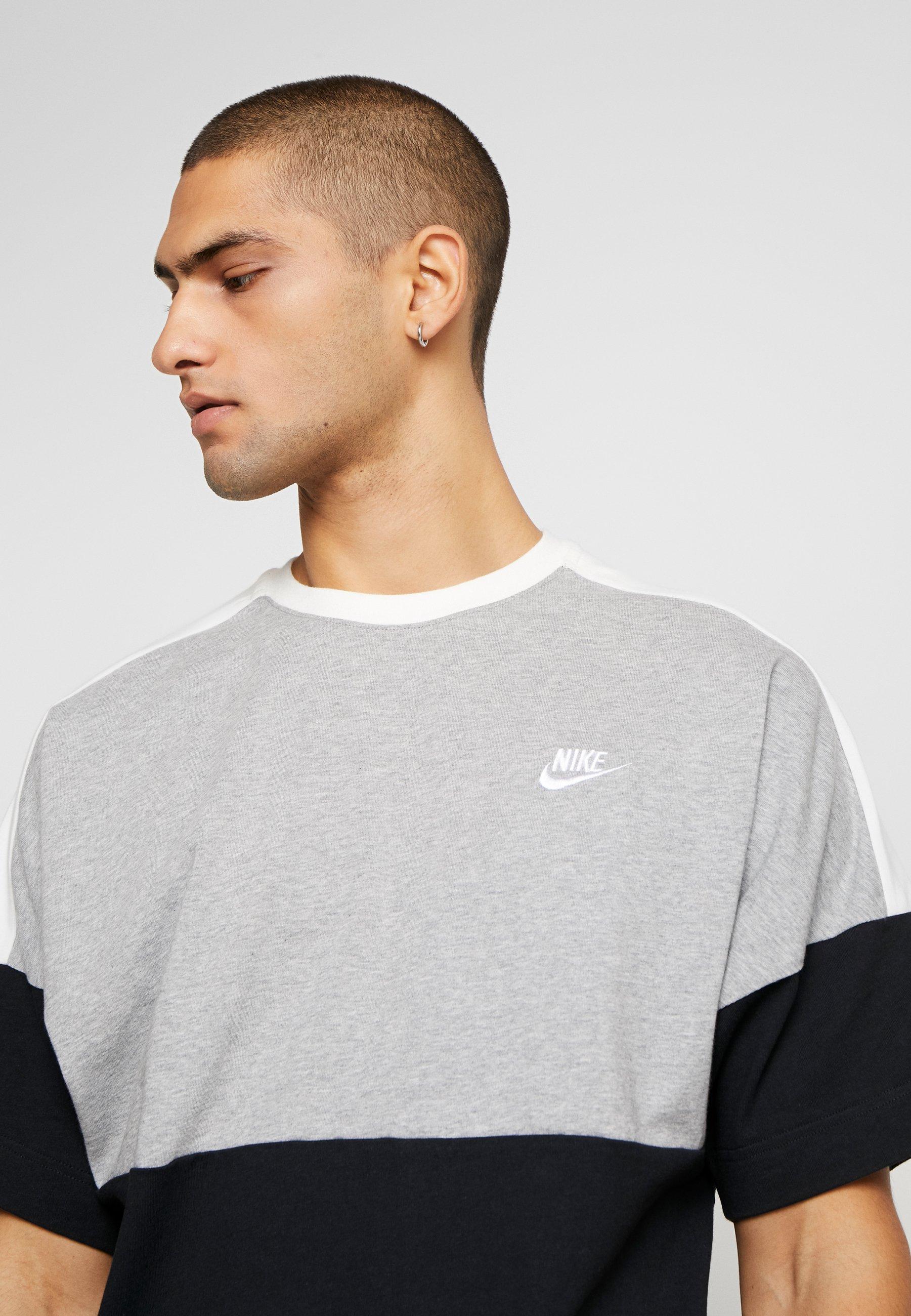 Nike Sportswear Print T-shirt - black/grey/white volSL