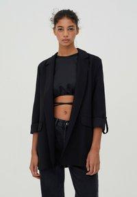 PULL&BEAR - Short coat - black - 0