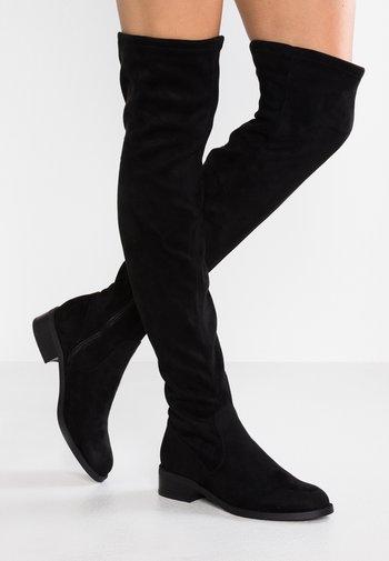 ARAECIA - Overknee laarzen - black