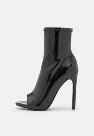 ELETTRA - High heeled ankle boots - black