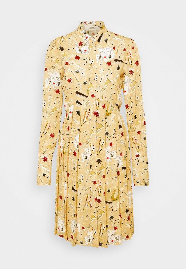 PLEATED BUTTON FRONT DRESS - Paitamekko - multicoloured