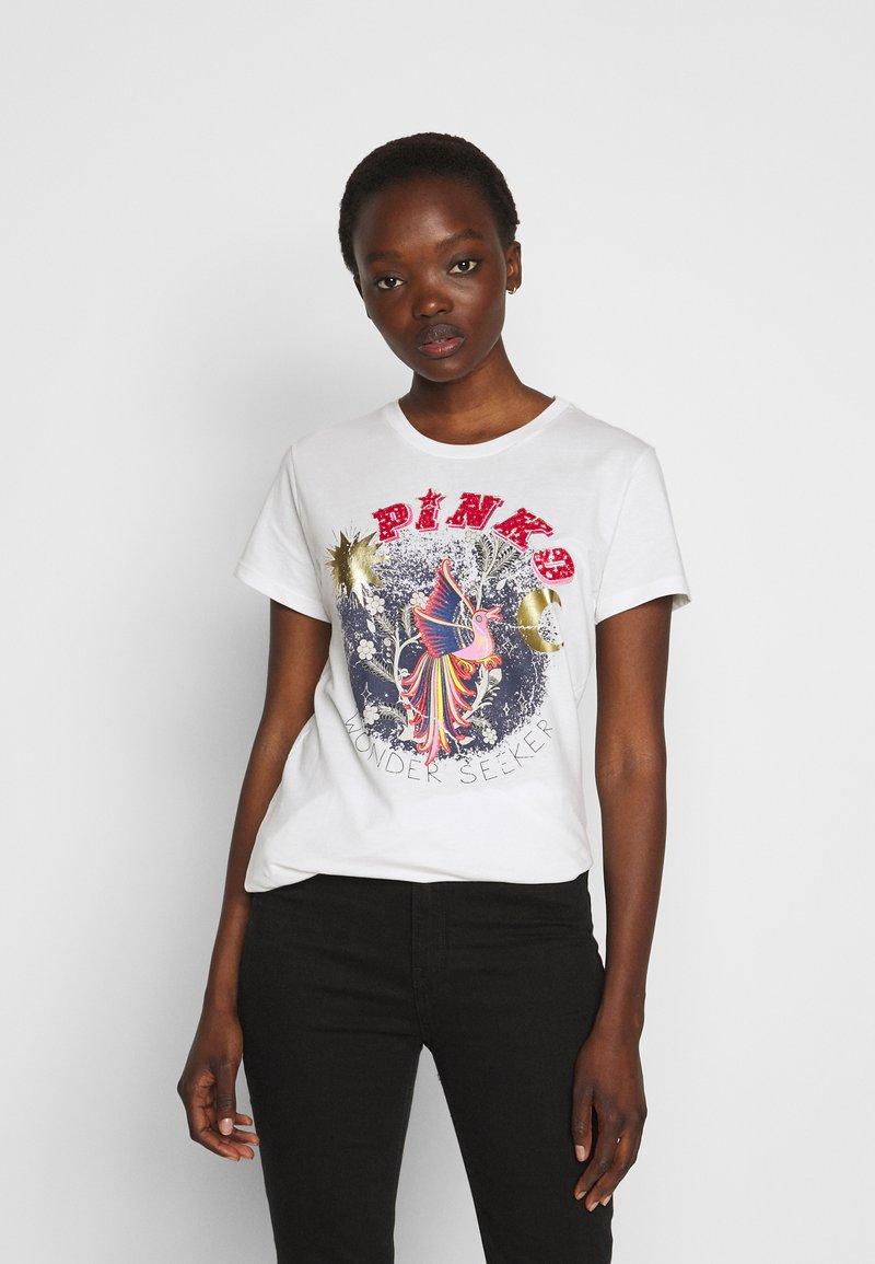 Pinko - DURANTE - T-shirt z nadrukiem - white