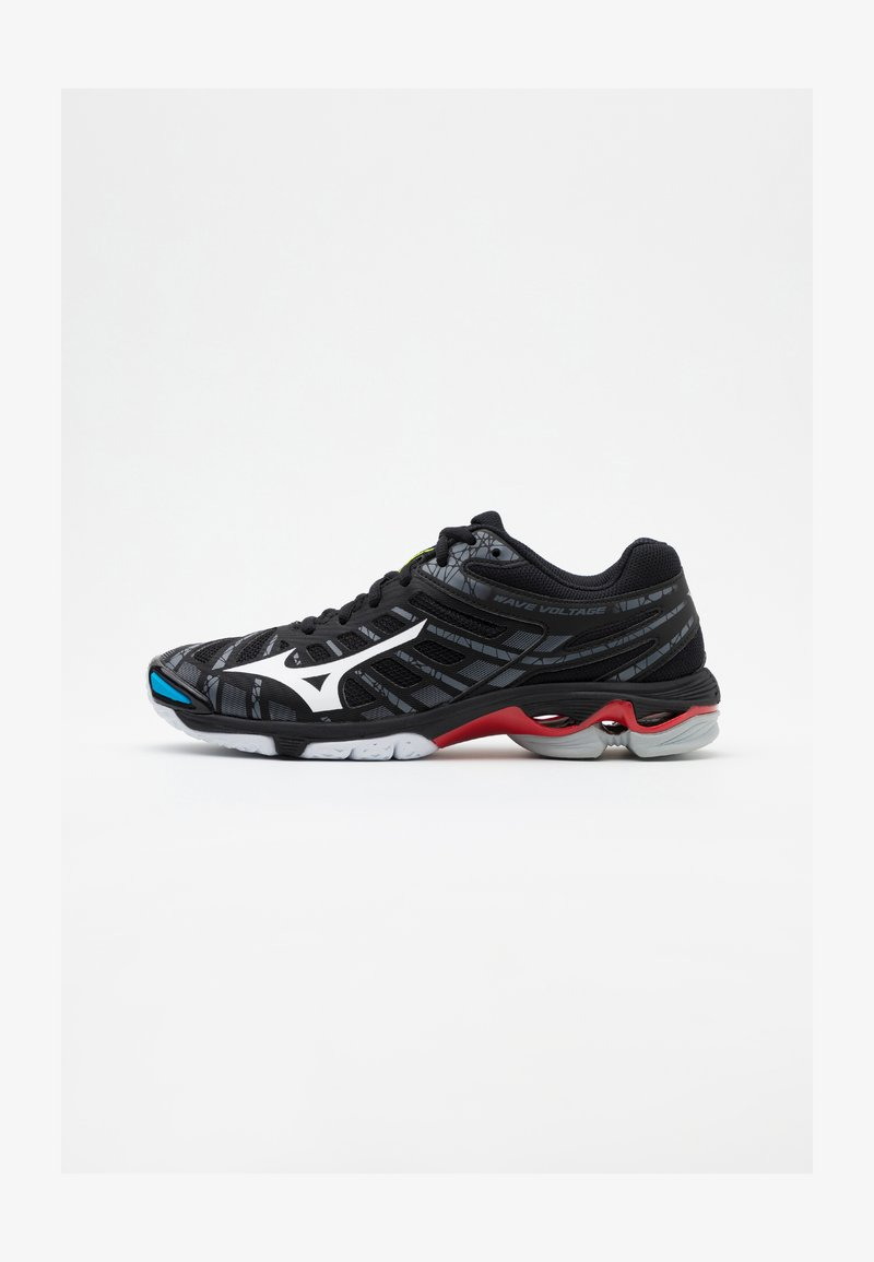 Mizuno - WAVE VOLTAGE - Volleyballsko - black/white
