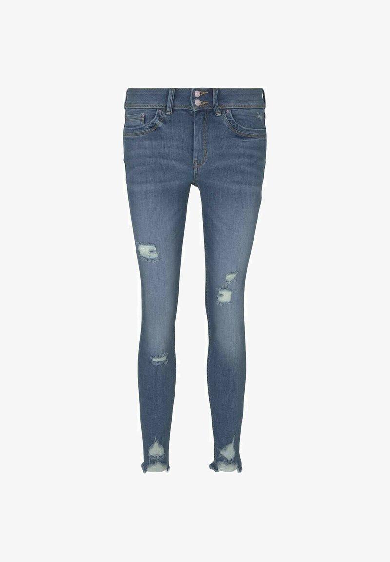 TOM TAILOR DENIM - Jeans Skinny Fit - used mid stone blue denim