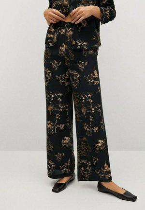 MUSHU - Trousers - schwarz