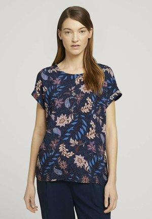 Blouse - navy floral design