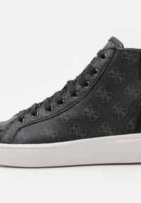 Guess - VERONA MID - Sneakers alte - black/coal - 5