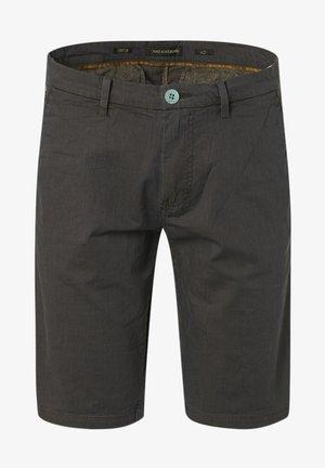 YARN DYED STRIPE STRETCH - Shorts - olive