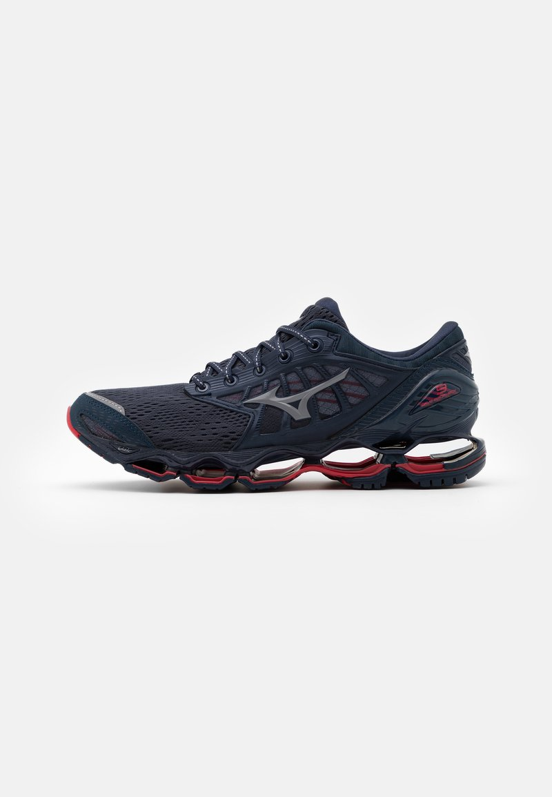 Mizuno - WAVE PROPHECY 9 - Neutrale løbesko - mood indigo/gray/lollipop
