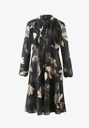 Day dress - schwarz/creme-weiß