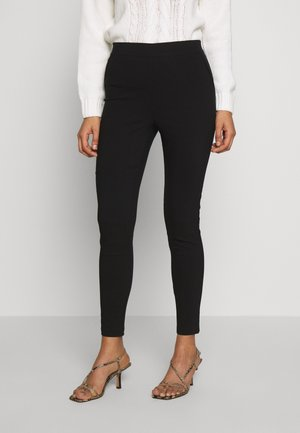 REGULAR LENGTH POCKET DETAIL BENGALINE TROUSER - Bukse - black