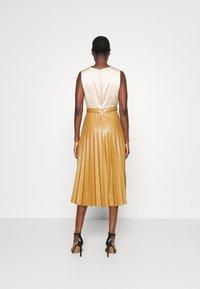 Closet - PLEATED SKIRT DRESS - Day dress - beige - 2