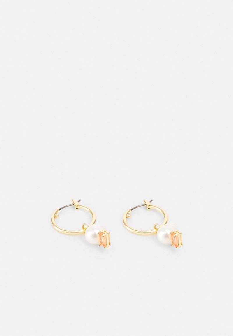 Lauren Ralph Lauren - HOOP DROP - Earrings - gold-coloured/white/pink