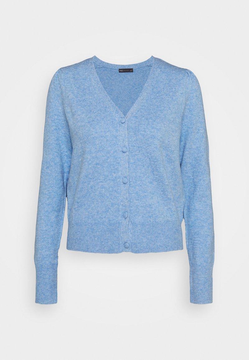 Marks & Spencer London - PLEAT SLEEVE  - Cardigan - light blue