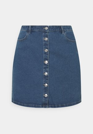 PCPAIGE SKIRT - Mini skirt - medium blue denim