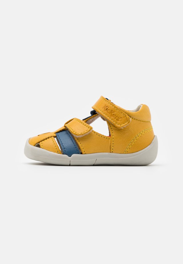 WASABOU - Sandaalit nilkkaremmillä - jaune/bleu