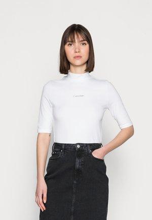 MINI CALVIN MOCK - Print T-shirt - white