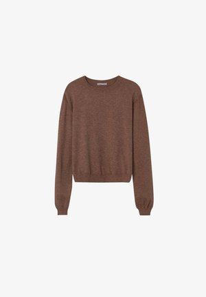 Strickpullover - mottled brown