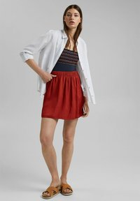 edc by Esprit - A-line skirt - terracotta - 4