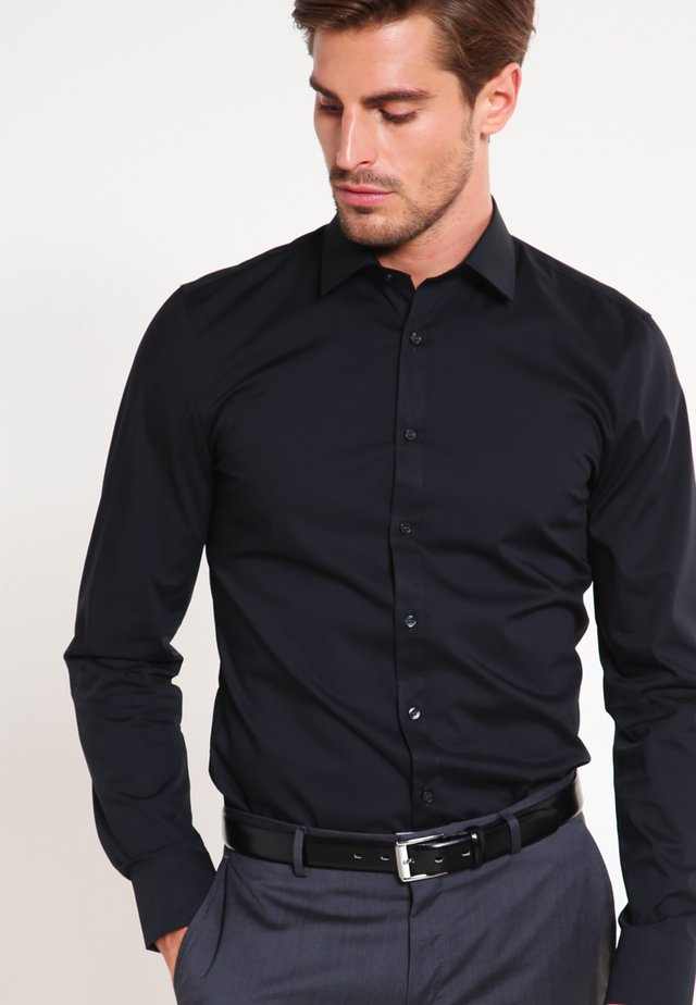 OLYMP NO.6 SUPER SLIM FIT - Finskjorte - schwarz