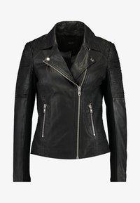 YAS - YASPAULINA NAPLON JACKET - Leather jacket - black - 4