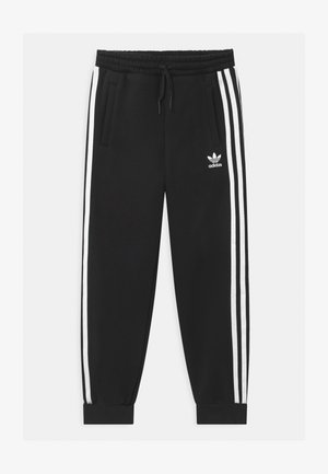 UNISEX - Tracksuit bottoms - black/white