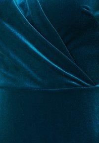 Closet - CLOSET WRAP FRONT PUFF SHOULDER DRESS - Day dress - teal - 5