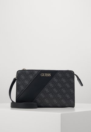 CAMY DOUBLE ZIP CROSSBODY - Olkalaukku - coal multi