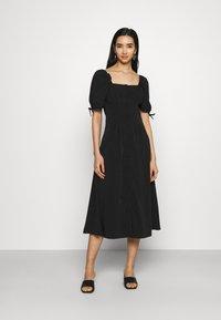 Fashion Union - BIATRRITZ MIDI DRESS - Day dress - black - 0