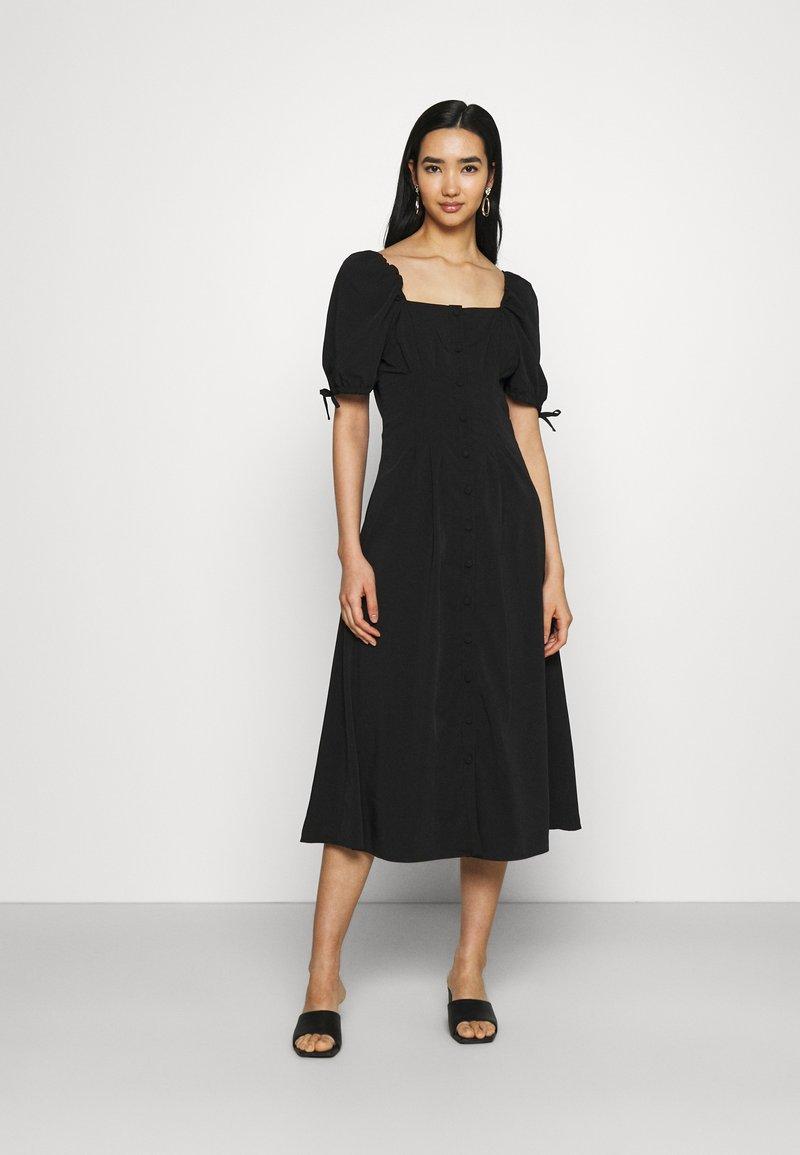 Fashion Union - BIATRRITZ MIDI DRESS - Day dress - black