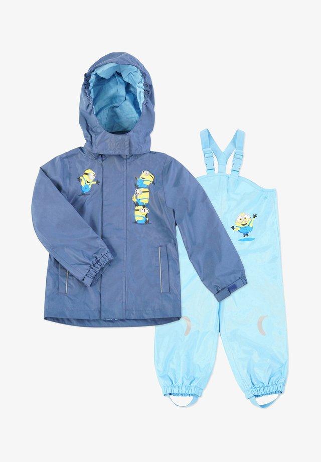 MATSCH UND BUDDELANZUG SET-Waterproof jacket - Regnbukser - marine   blau