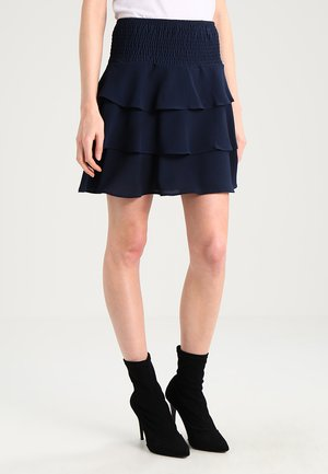 VMSASHA FRILL SKIRT - A-line skirt - navy blazer