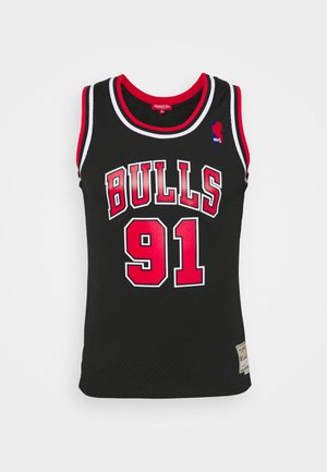 NBA DENNIS RODMAN CHICAGO BULLS WOMENS SWINGMAN - Club wear - black
