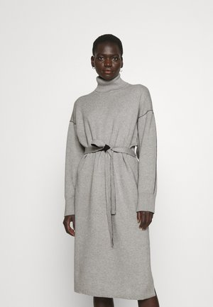 BLEND TURTLENECK DRESS - Jumper dress - grey melange/black