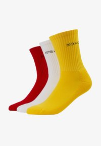WORDING SOCKS 3 PACK - Socks - yellow/red/white