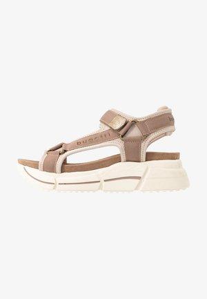 RAJA - Platform sandals - mid brown/sand