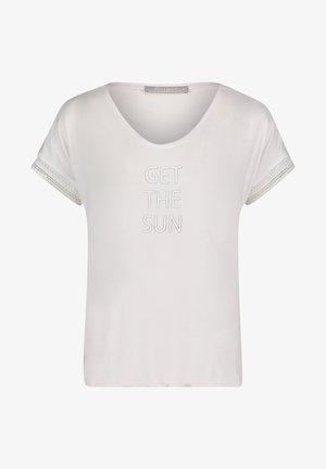 MIT AUFDRUCK - T-shirt print - weiß