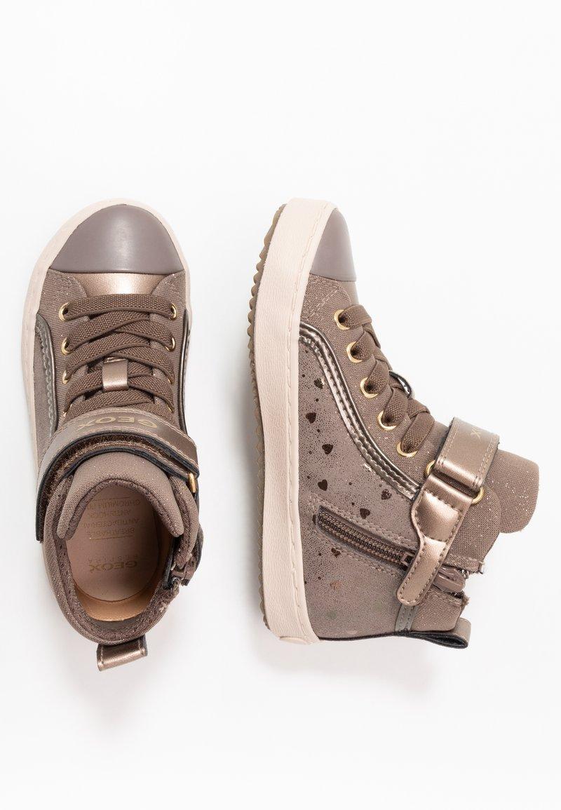 Geox - KALISPERA GIRL - Zapatillas altas - dark beige