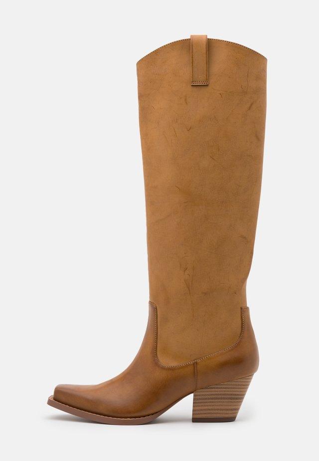 ROXY BOOT VEGAN - Stivali texani / biker - beige
