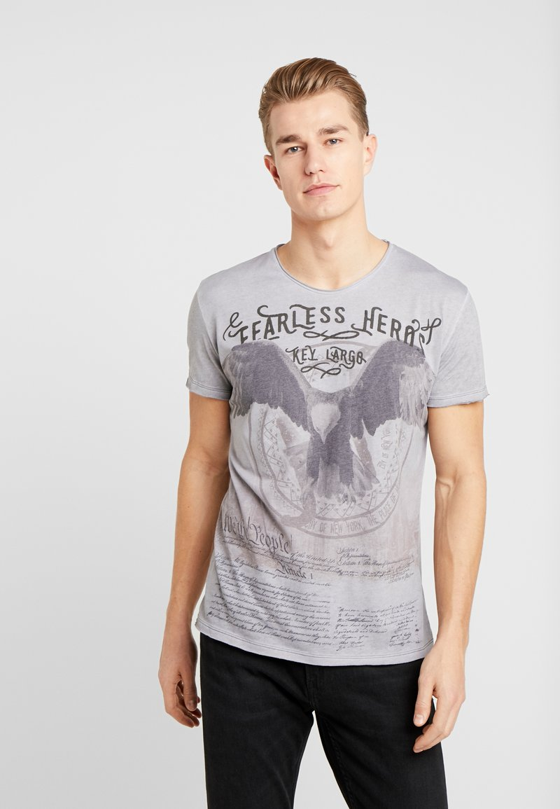 Key Largo - FEARLESS ROUND - T-shirts print - silver