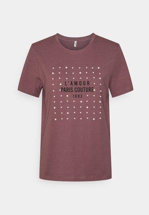ONLKITA LIFE PEARL TOP BOX - Print T-shirt - rose brown