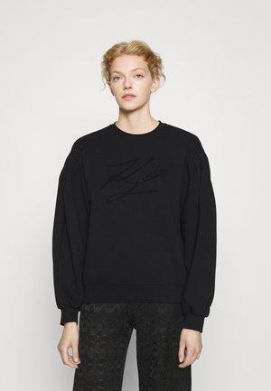 PUFFY SLEEVE - Sweatshirt - black