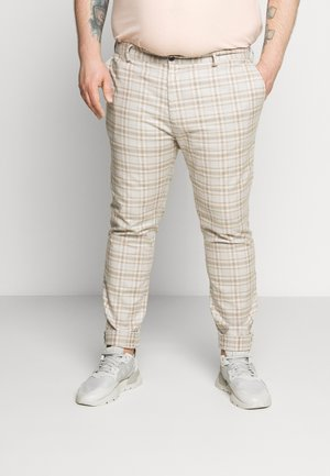 CHECK - Pantalon classique - stone/tan