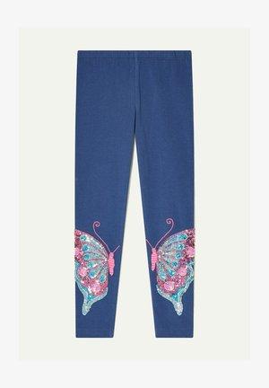BUTTERFLY  - Leggings - blue