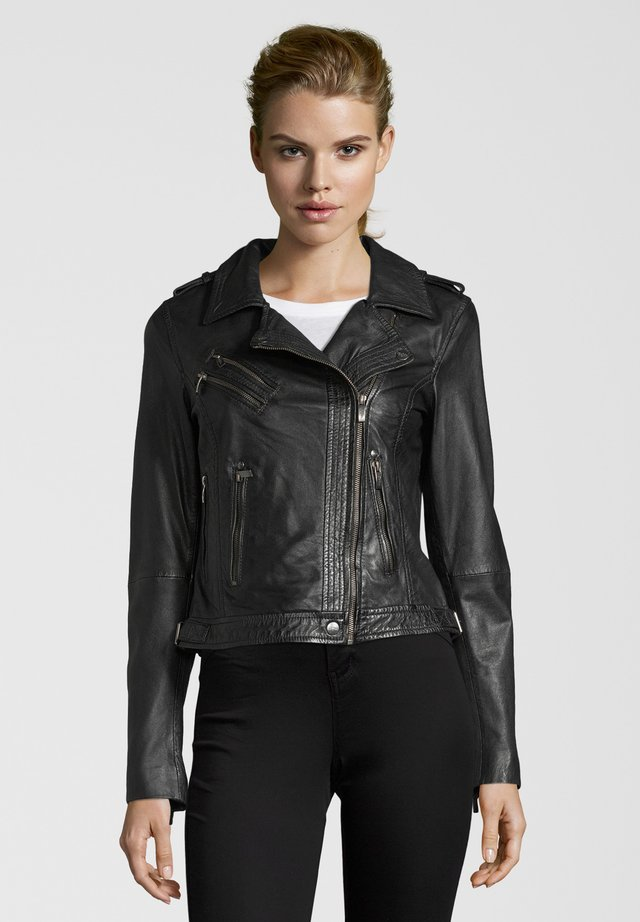 BE PROUD - Leather jacket - black