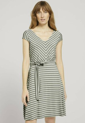 Day dress - green stripe